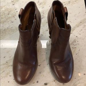 Coach booties, brown, size 7.